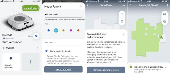 iRobot App mit Wischroboter und Karten.001