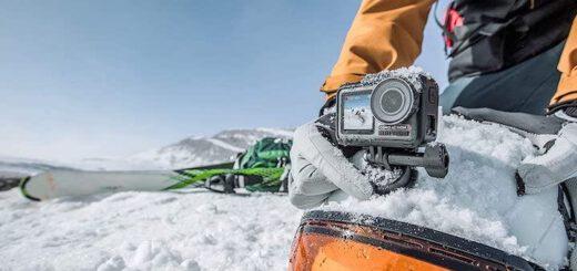 DJI Osmo Action im Schnee 520x245