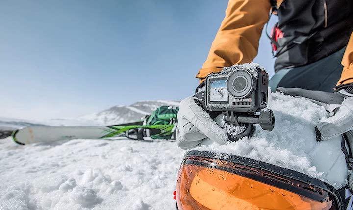 DJI Osmo Action im Schnee