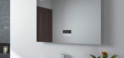 EMKE Badspiegel mit Lautsprecher und Beleuchtung 520x245