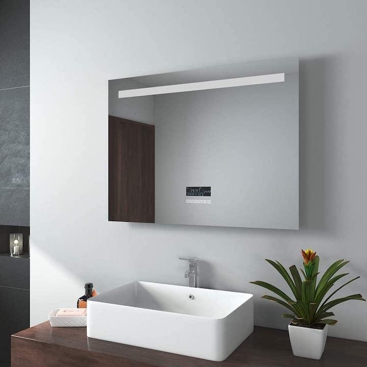 EMKE Badspiegel mit Lautsprecher und Beleuchtung