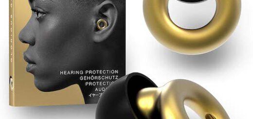 Loop Earplugs in Gold mit Verpackung 520x245