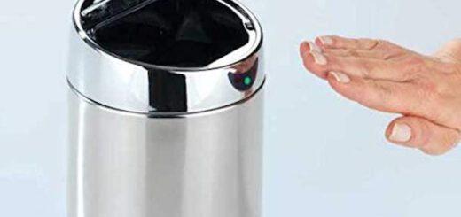 WENKO Tisch und Kosmetikeimer mit Sensor mit Hand  520x245