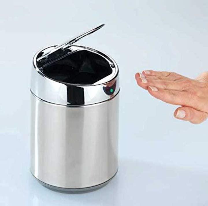 WENKO Tisch und Kosmetikeimer mit Sensor mit Hand