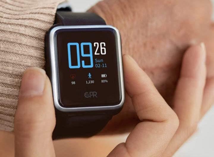 CPR Guardian II Smartwatch am Handgelenk