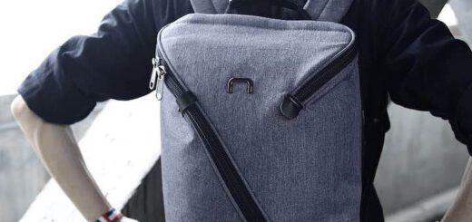 NIID UNO I Rucksack von Mann getragen 520x245