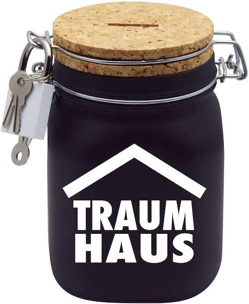 Spardose Traumhaus Geschenkidee fuer Paare