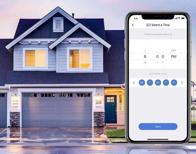 timereinstellung automatisches ein und ausschalten meross smart home