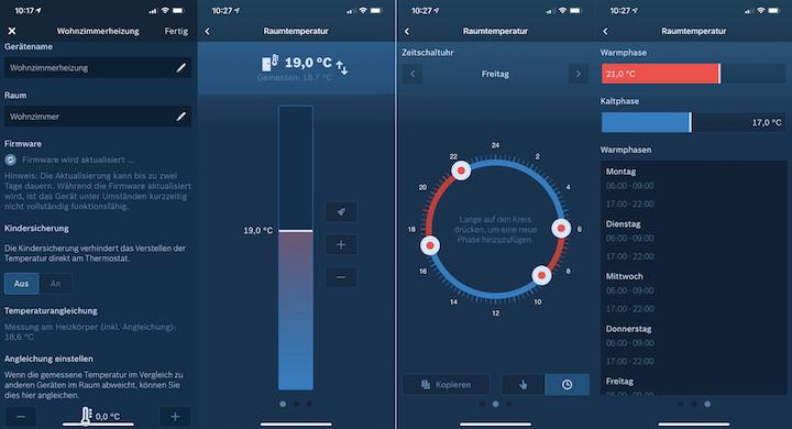Bosch Smart Home App Uebersicht