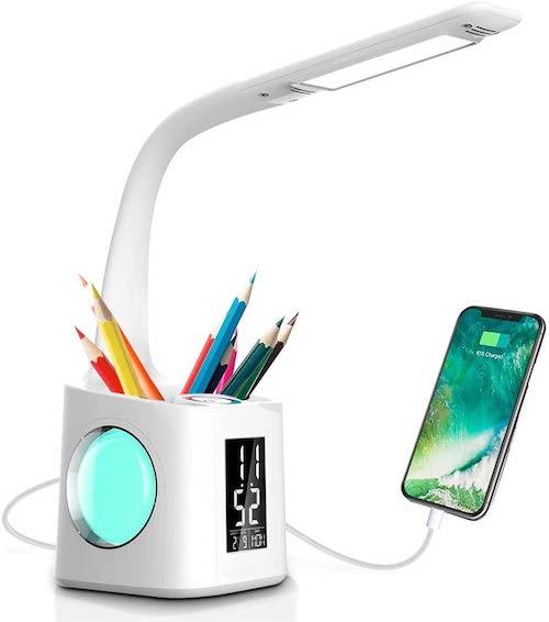 Schreibtischlampe mit Lademoeglichkeit
