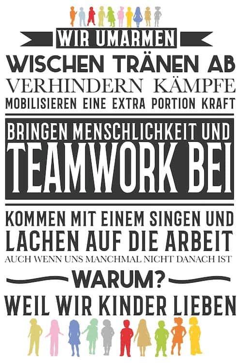 Cover Notizbuch Erzieher