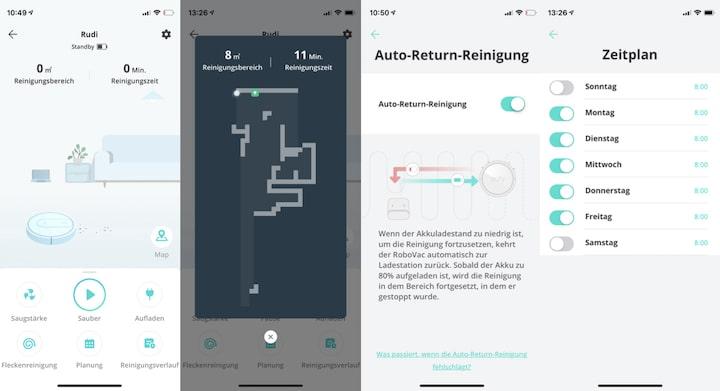 Saugroboter App Uebersicht Screenshot