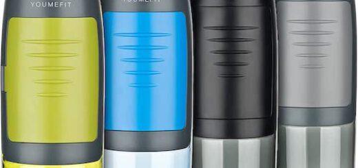 YOUMEFIT Trinkflasche mit Fach in vier Farben 520x245