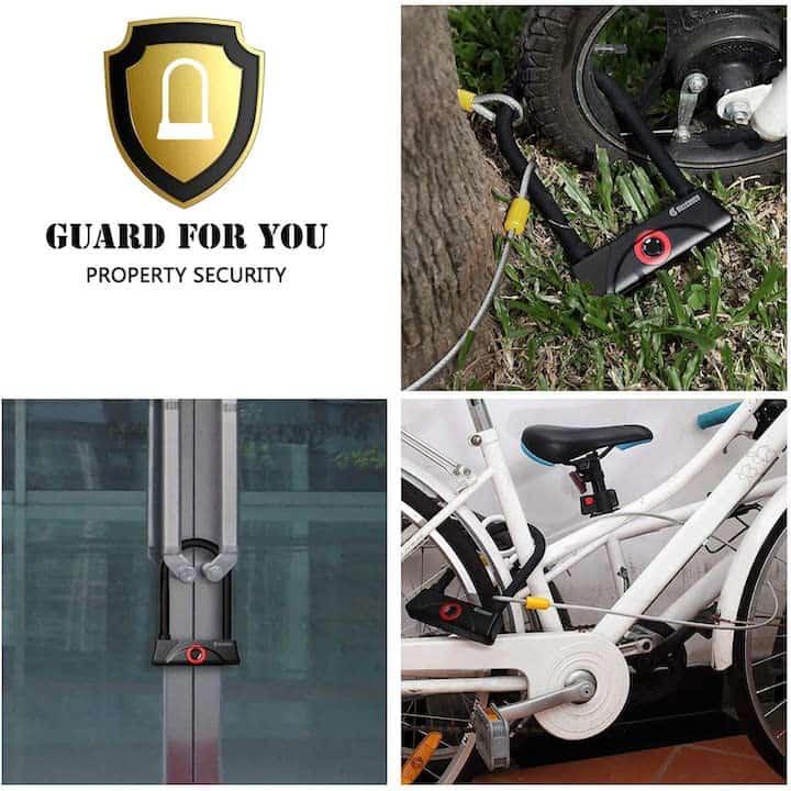 Einsatzgebiete Fahrradschloss mit Fingerabdruck