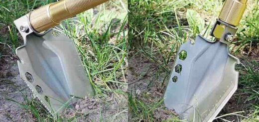 Iceberk Klappspaten auf dem Rasen 520x245