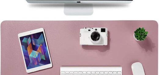 Knodel Schreibtischunterlage in rosa 520x245