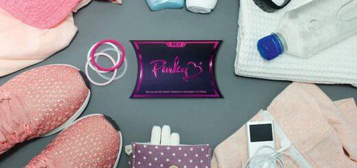 Pinky Hygienehandschuh Box zwischen Sportsachen 520x245