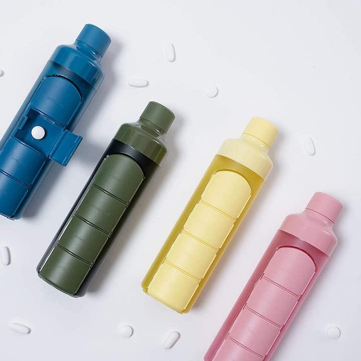 Trinklflaschen mit Tablettenfach