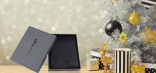Vemingo Herren Geldbeutel neben Weihnachtsbaum 520x245