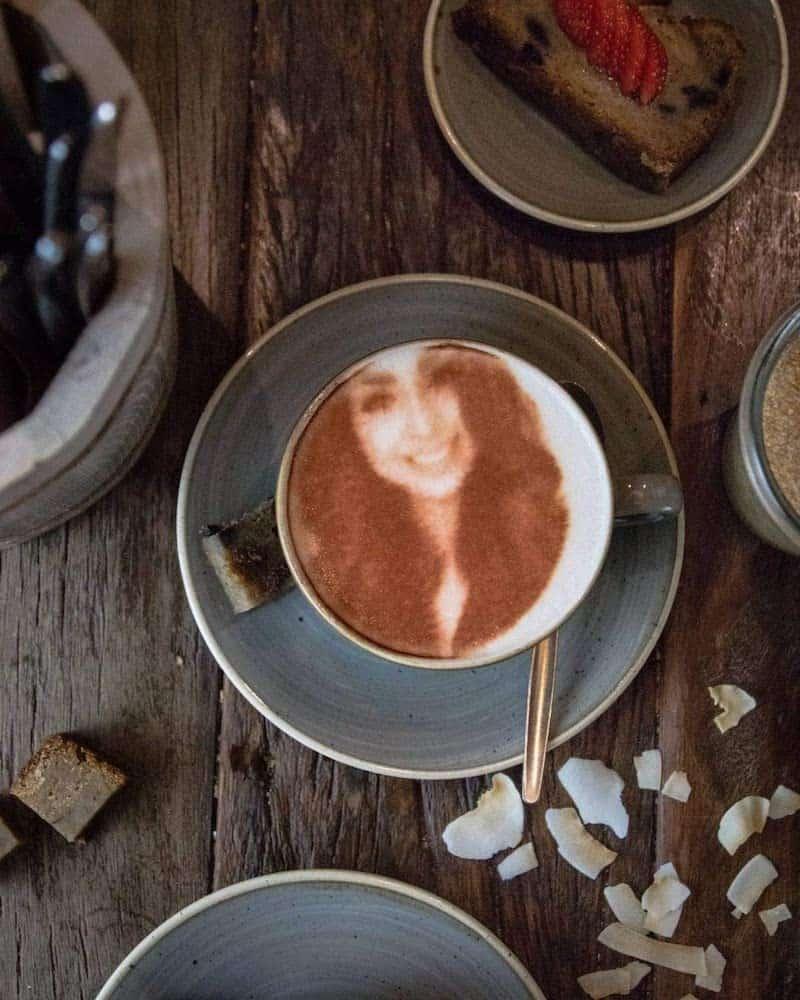 bild auf kaffee gedruckt