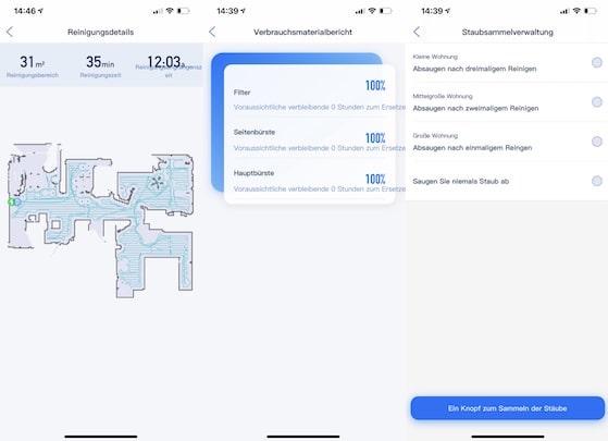 iPhone App Uebersicht der Proscenic App