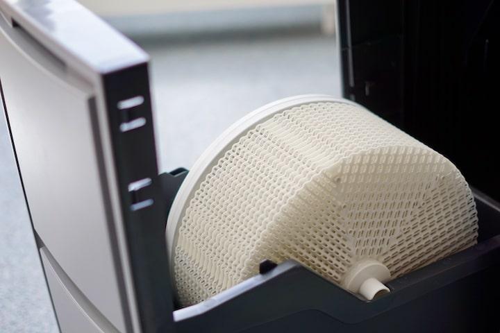 Rundes Filterrad im Inneren eines VENTA