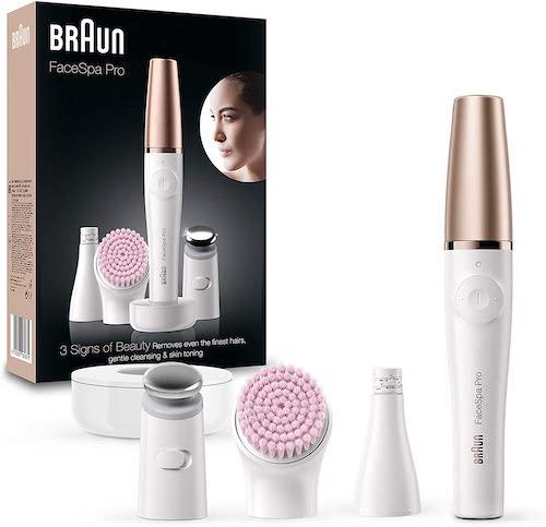 Braun FaceSpa Pro Gesichtsreinigungsbuerste mit weiteren Aufsaetzen