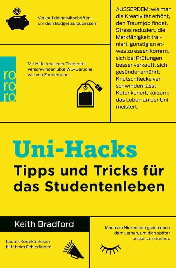Cover Buch zu Uni hacks