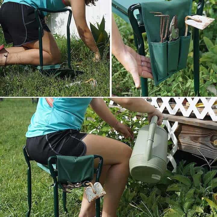Gartenhocker und Kniehilfe fuer den Garten