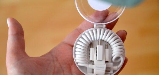 Spiralkabel mit Adaptern in Transportbox 520x245
