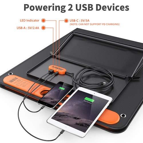 mit SolarSaga 100 direkt smartphone und tablet laden