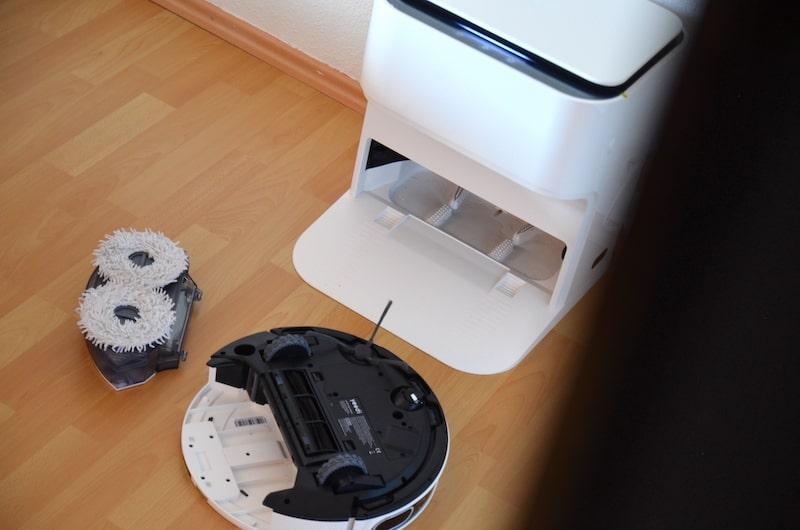 wischeinheit des yeedi mop station wischroboters