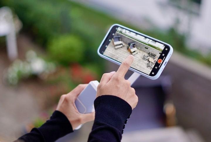 Finger bedienen PowerVision S1 iPhone App