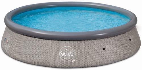Swing Pool in Rattan Optik mit Wasser