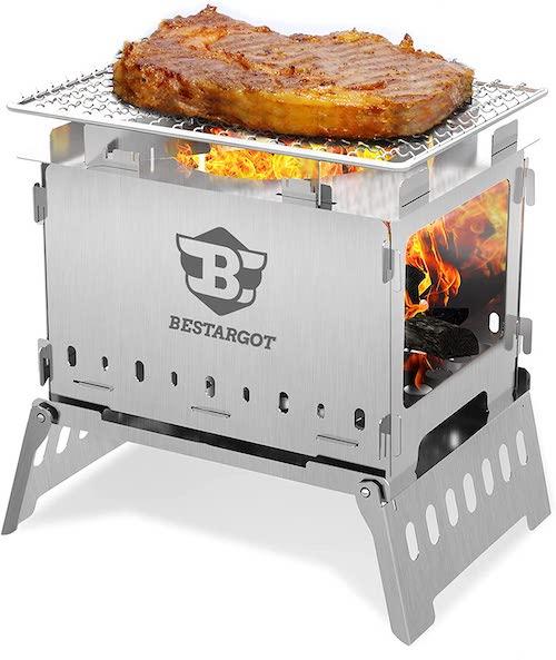 Bestargot Campinggrill mit Steak
