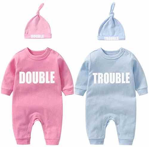 Bodys mit Double Trouble Aufdruck