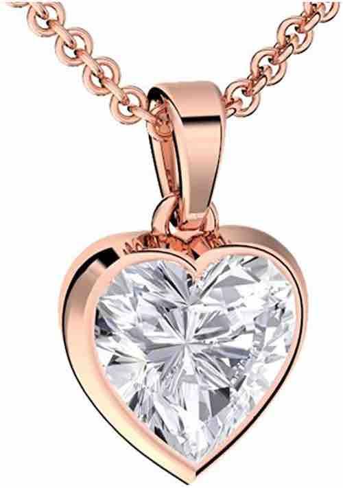 Herzkette aus Rosegold