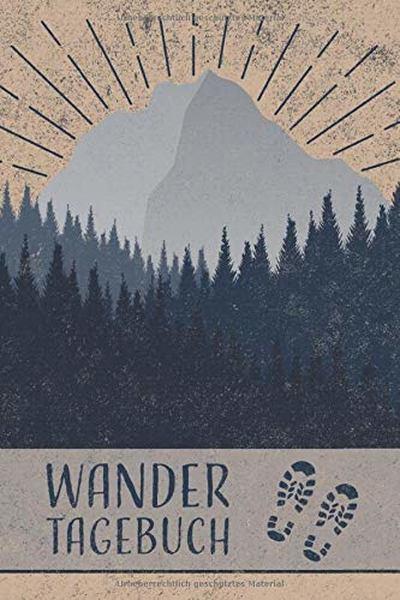 Buch mit Aufschrift Wandertagebuch