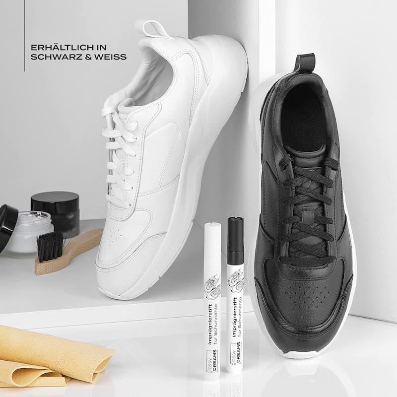 Glossy seams in schwarz und weiss