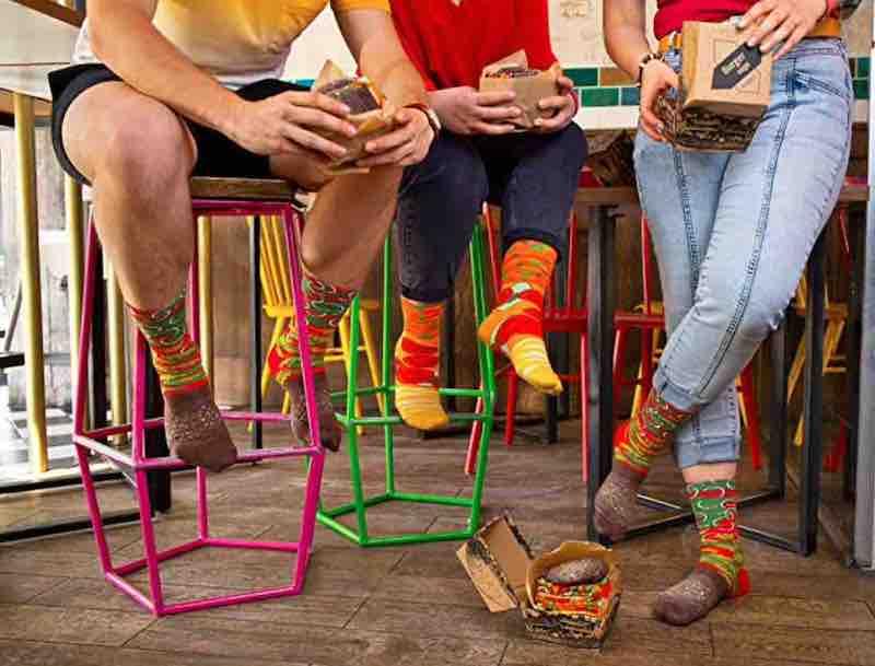 Vegane Burger als Socken