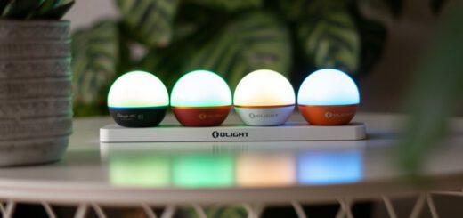 Vier kleine Lampen in einer Reihe 520x245