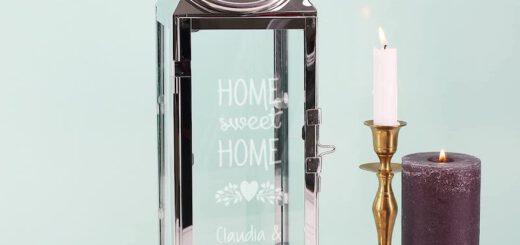 Herz und Heim personalisierte Laterne mit Gravur 520x245