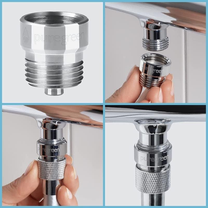 Montage von bluegreen Dusch Wassersparer