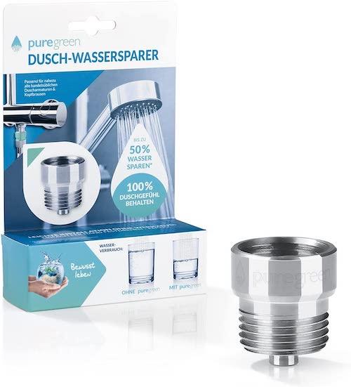 bluegreen Dusch Wassersparer mit Verpackung